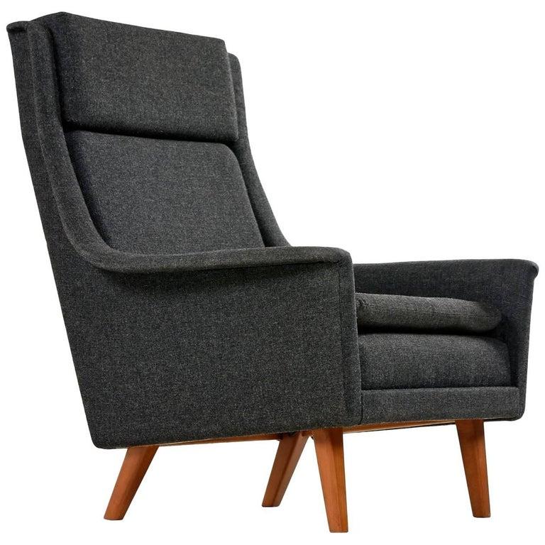 Original Scandinavian Modern Lounge Chair by Folke Ohlsson & Fritz Hansen For Sale