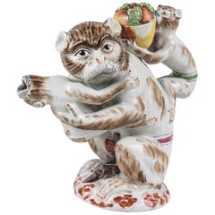 Meissen Style Monkey Tea Pot, After a Model by Johann Joachim Kaendler, 1735