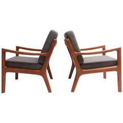 Ole Wanscher Senator Lounge Chairs Produced by France and Son Set of Two