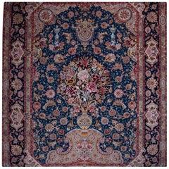 Salari Vase -Master Salari Hand-Knotted Genuine Persian Tabriz Rug or Carpet