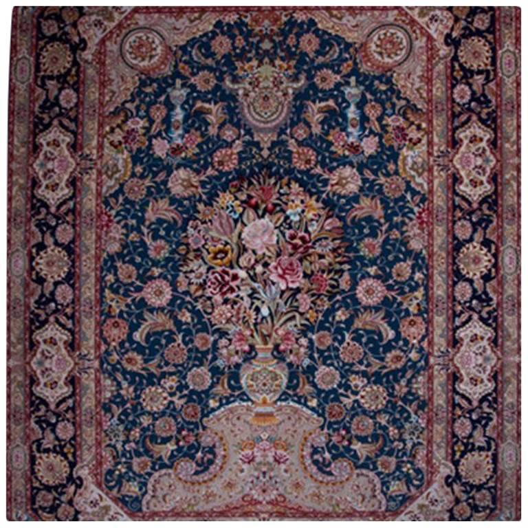 Salari Vase -Master Salari Hand-Knotted Genuine Persian Tabriz Rug or Carpet 1