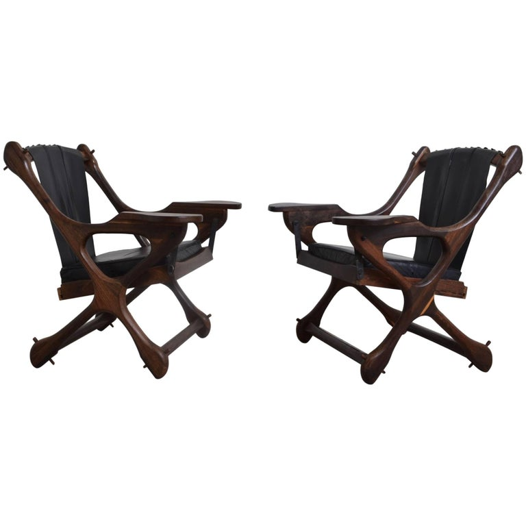Pair of Don Shoemaker 'Swing' Chairs, Mexico, 1970