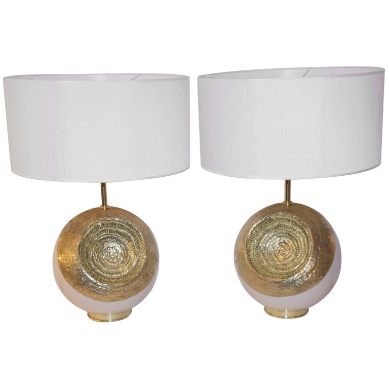 Angelo Brotto Pair of Lamps, Signed Brotto, circa 2000, Italy