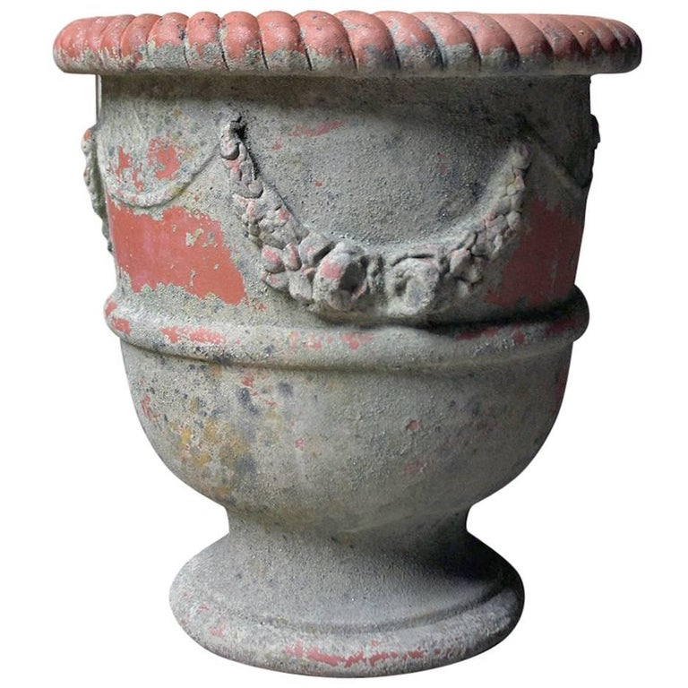 Large & Attractive Early to Mid-20th Century Terracotta Garden Urn For Sale