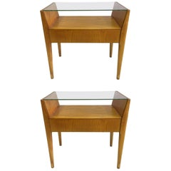 Pair of Italian Modern Side Tables / Nightstands Attributed to Gio Ponti, 1954