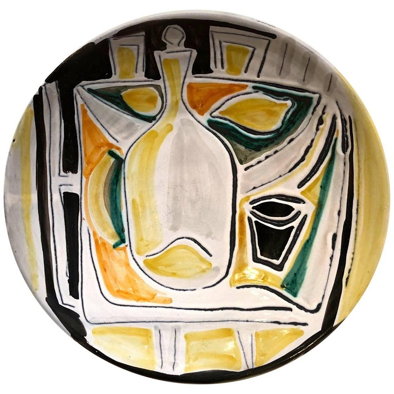 Decorative Ceramic Dish Jacques Innocenti, 1950s