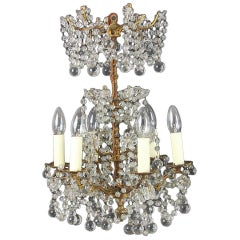 Small 17th Century Style Beaded Six-Arm Chandelier