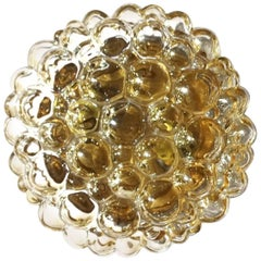 Limburg Bubble Glass Sconce Flush Mount Light, 1960s Modernist Vintage Design