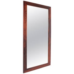 Danish Rectangular Palisander Mirror, 1960