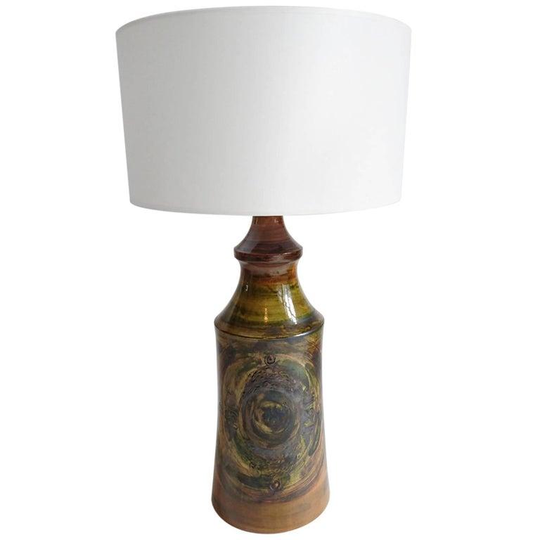 Ceramic Brutalist Studio Table Lamp Sweden 1970´s