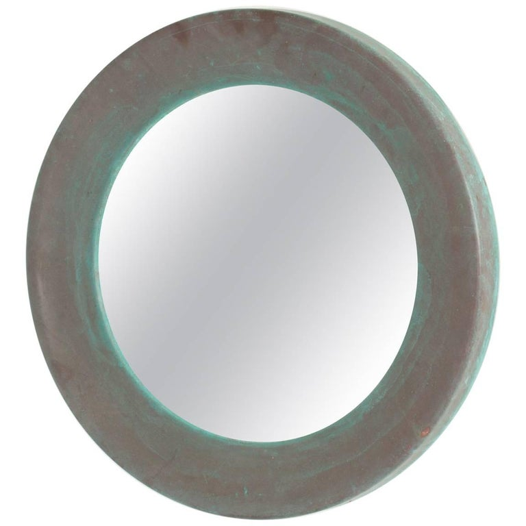 Patinated Copper Mirror from Glasmäster