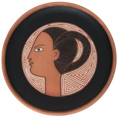 Jean Cocteau Original Ceramic Dish Artémis, 1962