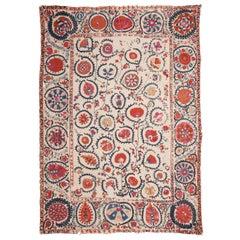 Antique 19th Century Suzani from Bukhara Uzbekistan