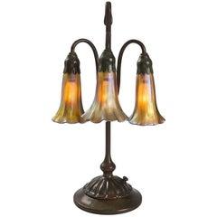 "Tiffany Studios Three-Light Lily"" Desk Lamp"