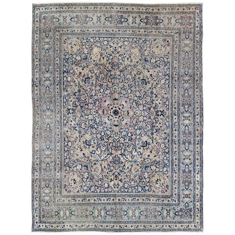 Royal Border Oriental Rug By Rug Culture: Royal Ornate Floral Antique Persian Khorassan Rug In Many