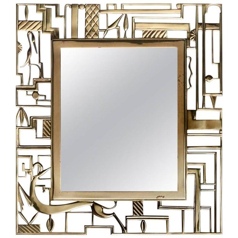 Karl Hagenauer Mirror for Werkstate Hagenauer For Sale