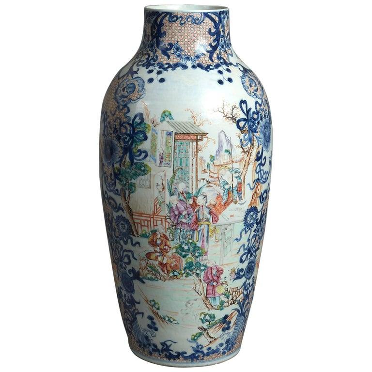 Late 18th Century Mandarin Porcelain Vase