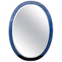 Fontana Arte Blue Edged Mirror