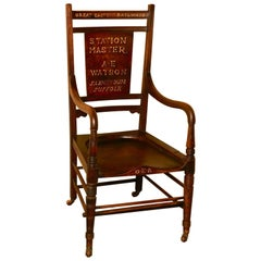 Great Eastern Railways Station Master's Chair Carver Chair