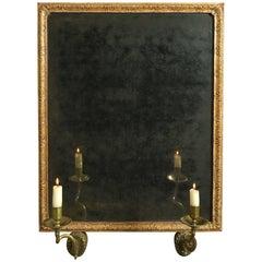 Early 18th Century George I Period Gile Gesso Girandole Mirror