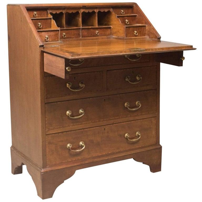 Edwardian bureau mahogany and oak english desk with for Bureau in english