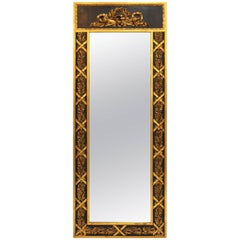 1940s Black and Gold Mirror