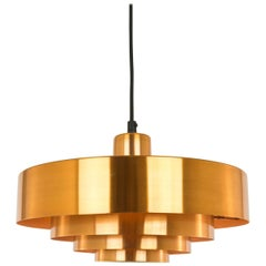Copper Roulet Pendant by Jo Hammerborg for Fog & Mørup, 1960s