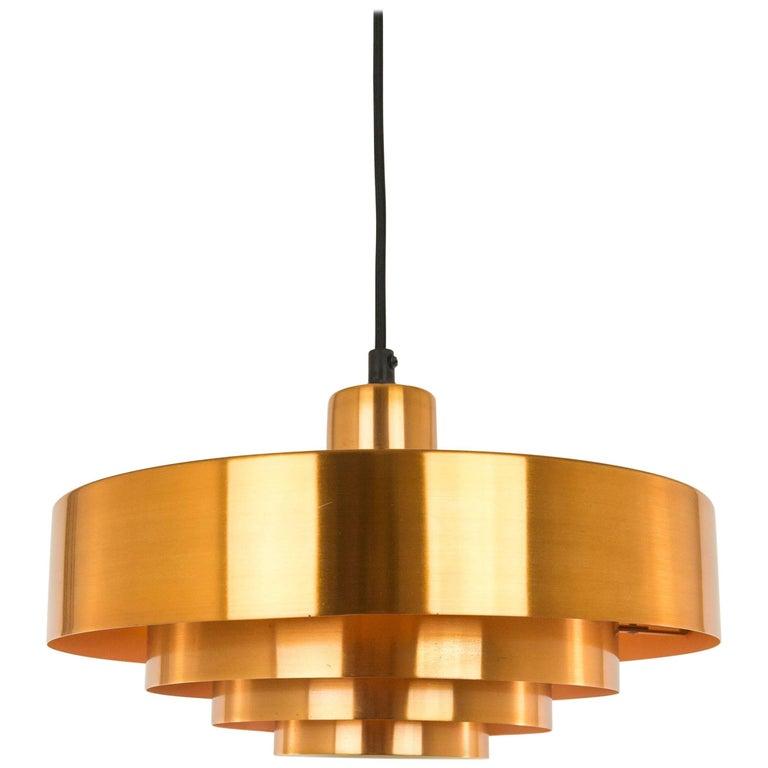 Copper Roulet Pendant by Jo Hammerborg for Fog & Mørup, 1960s