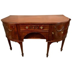 Georgian Period Demilune Sideboard or Serving Table Breakfront