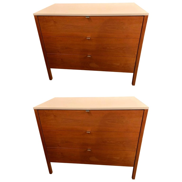 Pair of Signed Custom Florence Knoll and Associates Chests or Commodes