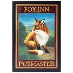 English Pub Sign, Fox Inn, Pubmaster
