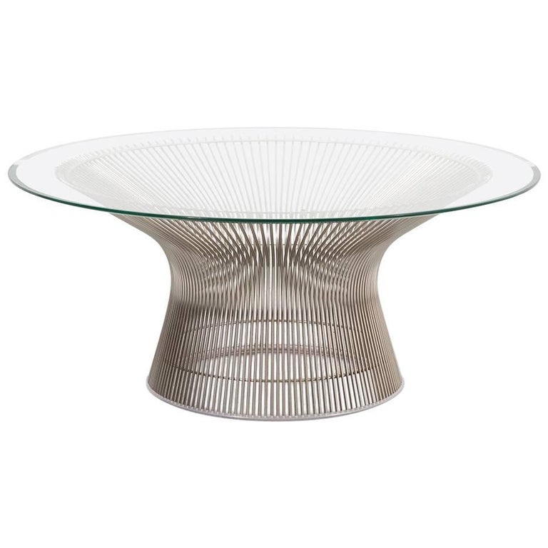 Mid century modern warren platner for knoll coffee table for Warren platner coffee table