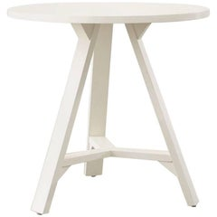 White Wood Round Cricket Table