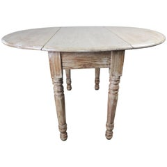 English Drop-Leaf Table with Natural Washed Finish