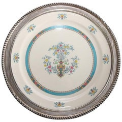 Lenox Porcelain Charger with Central Floral Urn Display