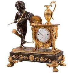 "Empire Bronze Mantel Clock ""Amor"", Austria, circa 1810"