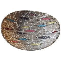 Multicolored Italian Modernist Ceramic Bowl by Fratelli Fanciullacci for Bitossi
