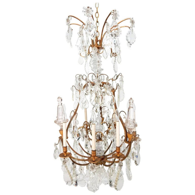 French 19th Century Napoleon Era Crystal Chandelier For