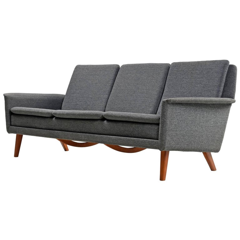 Vintage Scandinavian Modern Sofa Couch by Folke Ohlsson and Fritz ...