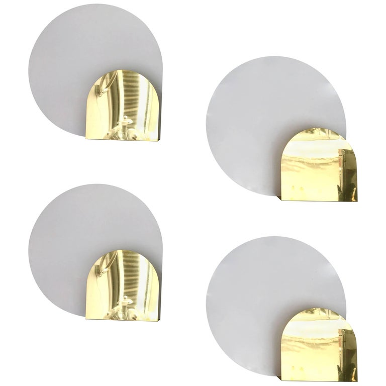 4 Sconces by Pia Guidetti Crippa for Lumi, Italy, 1980s For Sale