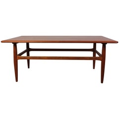 Midcentury Kurt Ostervig Teak Coffee Table for Jason Møbelfabrik