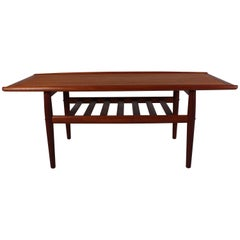 Midcentury Grete Jalk Teak Coffee Table by Glostrup, Denmark