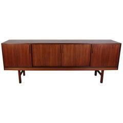 Midcentury Large Danish Rosewood Sideboard with Sliding Doors