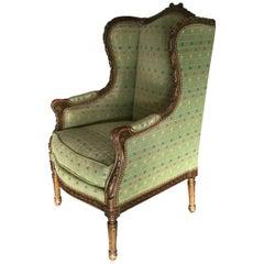 Elegant French Louis XVI Style Bergere
