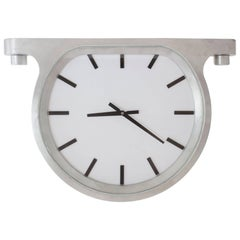 Mantel Wall Ceiling Clock 'the Ceiling Clock' Glen Baghurst Cast Aluminium Glass
