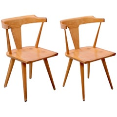 Pair of Planner Group T-Back Chairs by Paul McCobb for Winchendon