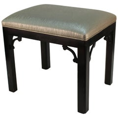 Asian Inspired Upholstered Stool
