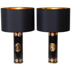 Piero Fornasetti 'Cameo' Table Lamps