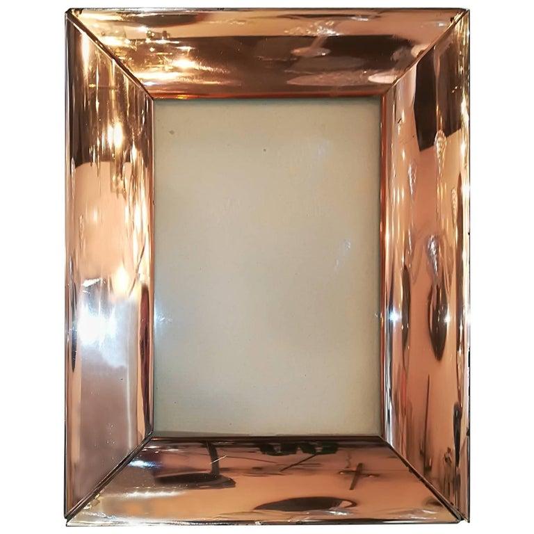 1950 Pink Bronze Glass Fontana Arte Frame