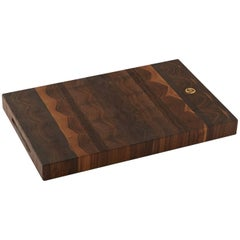 "Medium ""Wesley"" American Black Walnut End-Grain Butcher Block, Cutting Board"